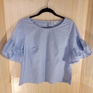 """Madewell 3/4"""" bell sleeve blouse. Size XS"""